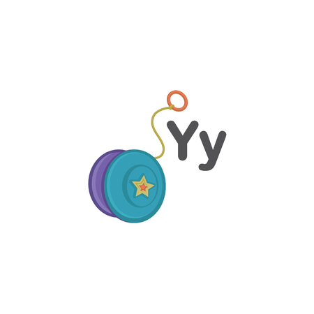 english letters: Y is for Yoyo Illustration