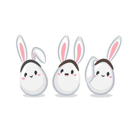 Egg Bunnies icons 矢量图像
