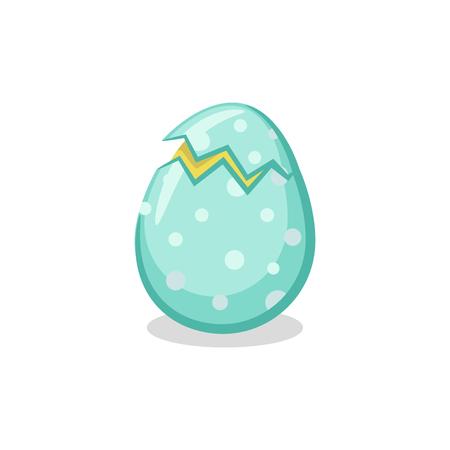 Cracked Easter Egg icon 矢量图像