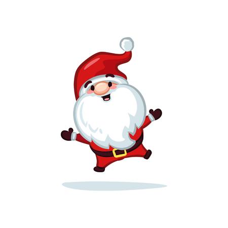 Christmas Vectors - Santa Claus Jumping