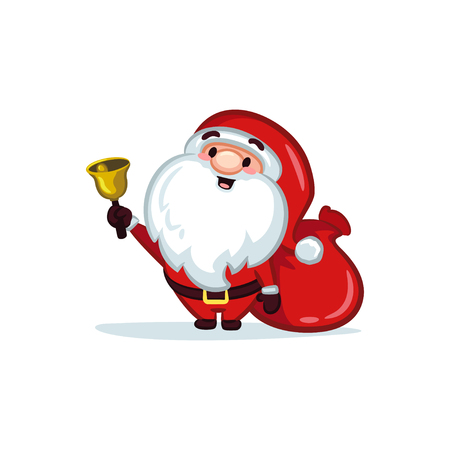 Christmas Vectors - Santa Claus with a Bell