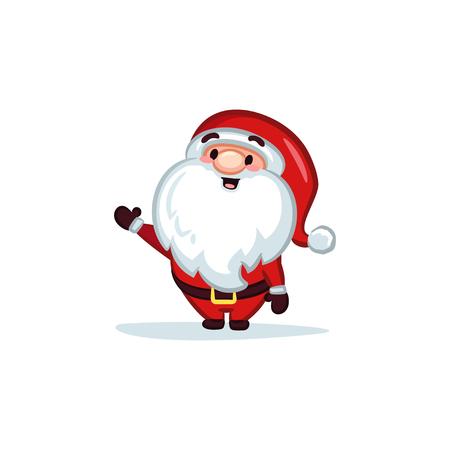 Christmas Vectors - Santa Claus Waving Hand 矢量图像