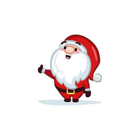 Christmas Vectors - Santa Claus with Thumb-up 矢量图像