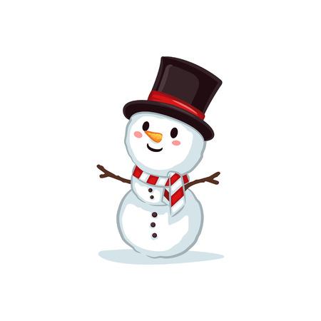 Christmas Vectors - Snowman Wearing Top Hat