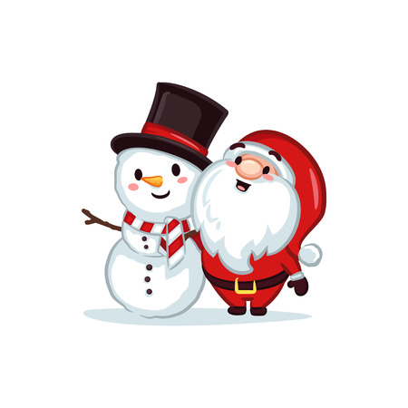 Christmas Vectors - Santa and Snowman