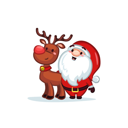 Christmas Vectors - Santa and Reindeer 矢量图像