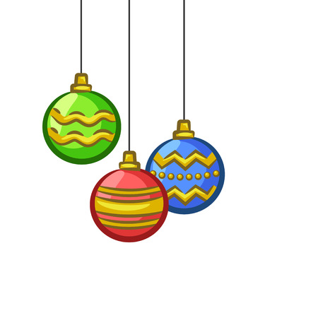 Christmas Vectors - Hanging Ornaments 矢量图像