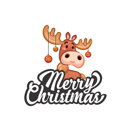Christmas Vectors - Greeting with Moose