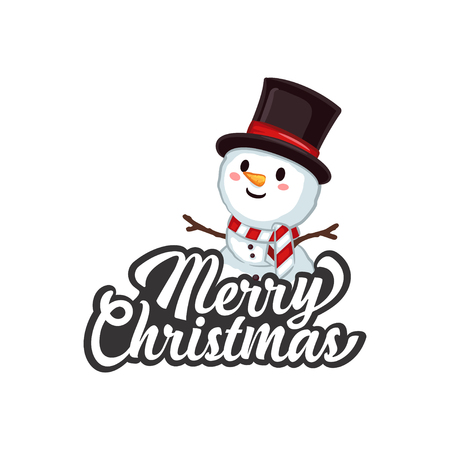 Christmas Vectors - Greeting with Snowman