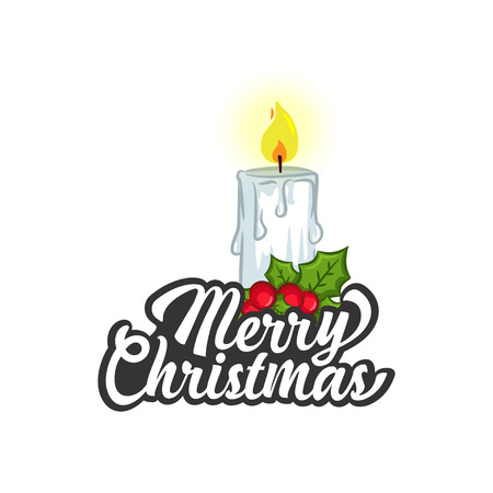 Christmas Vectors - Greeting with Candle