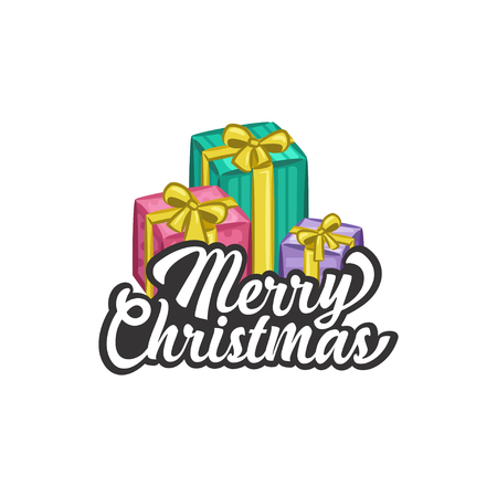 Christmas Vectors - Greeting with Gifts
