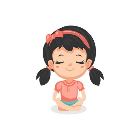 Good Habits - Meditating Illustration