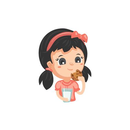 Bonnes habitudes - Boire du lait et manger des biscuits