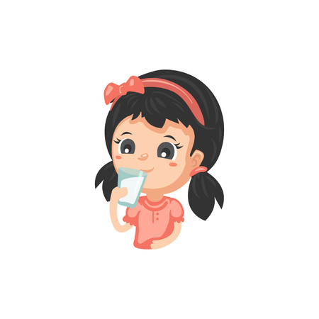 Good Habits - Drinking Milk Illustration