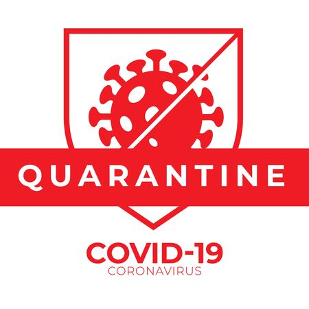 Covid-19 Coronavirus Quarantine Vector Graphic