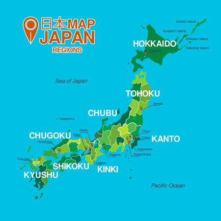 japanese background: Japan map