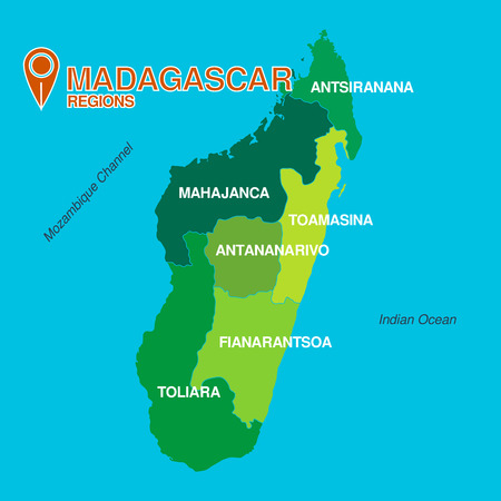 regions: Madagascar map regions
