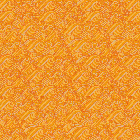 orange swirl: Line orange swirl wave pattern background
