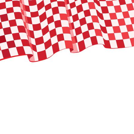 checker flag: Red Checkered  flag racing