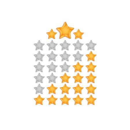 star rating: Icona Classificazione Vettoriali