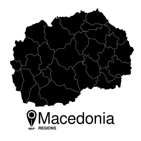 regions: Macedonia regions map