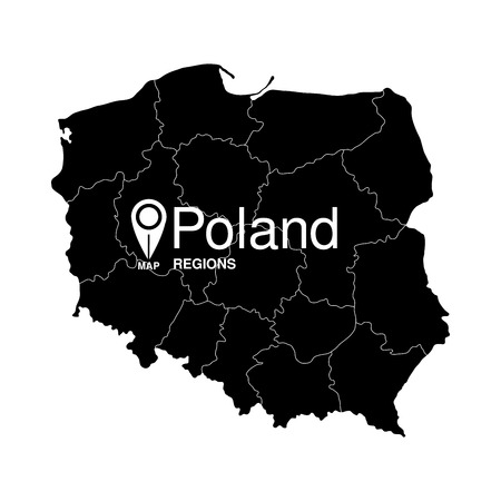 regions: Poland regions detailed map