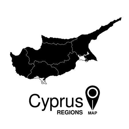 cyprus: Regions map of Cyprus. Cyprus Illustration