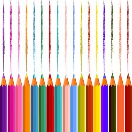 color pencils: Vector color pencils Illustration