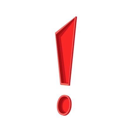 rood teken: Exclamation red sign vector Stock Illustratie
