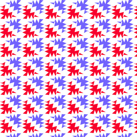 ragged: Red and blue ragged corner pattern background