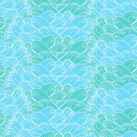 Line art cloud pattern