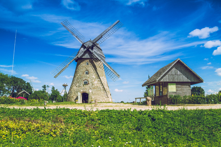 Araisi, Latvia, 2015, Nature and mill view. Nature, mill and history. Its a travel photo, when I walk around city. Editorial
