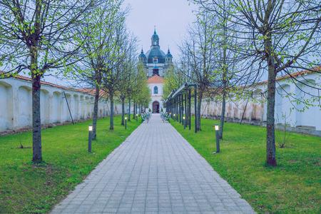 kaunas: Kaunas, Lithuania 2017, Nature, buildings, trees and beautiful view. Its a travel photo, when I walk around Lithuania.