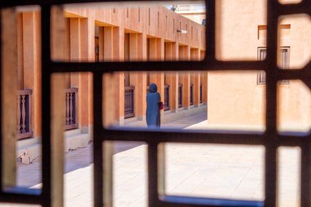 UAE, Dubai,street,  girl, hijab. 2015