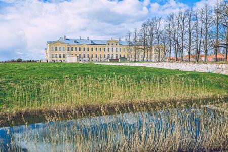 rundale: Old castle in Latvia, Rundale, 2017 April.
