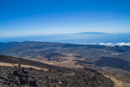 Volcano at Tenerife, Spain. Travel photo, we walking around volcano.