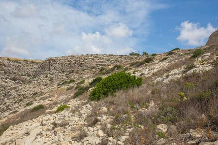 City Valleta, Malta, Europe. Rocks and hill. Nature at summer.