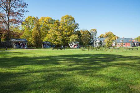 City Sigulda, Latvia Republic. Old renovated manor in city garden. 27. Sep. 2019