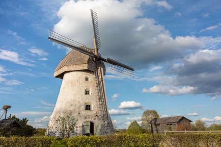 Cit Araisi, Latvia. Old historic  windmill and nature.1405.2020