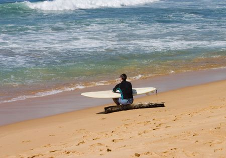 Surfer with surfing board Stock Photo - 437345