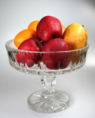 Mixed fruit in a bowl. photo