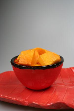 cubed: Cubed and Spread Mango - Mangifera indica