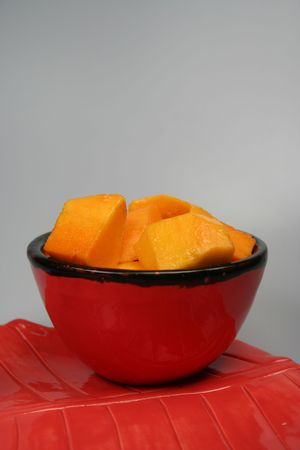 splayed: Cubed and Spread Mango - Mangifera indica