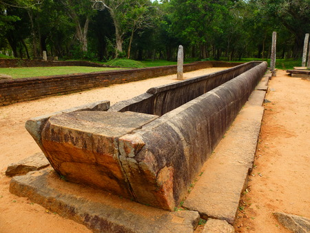 earthen: huge stone earthen bow