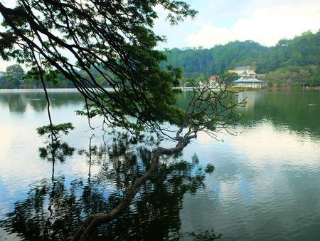 kandy: Kandy lake view Stock Photo