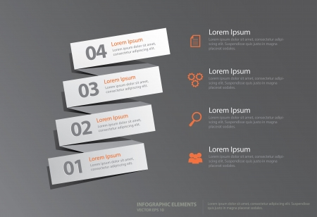 gradual: Info-graphic elements with gradual number, you can use for business steps presentation, business options, info-graphic background and other illustrations  Illustration