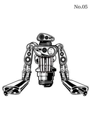ロボット  イラスト・ベクター素材