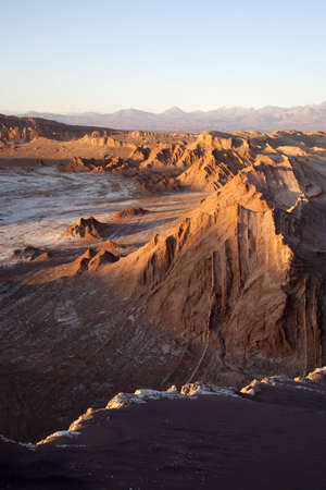 Valley of the moon in the desert near San Pedro of Atacama photo