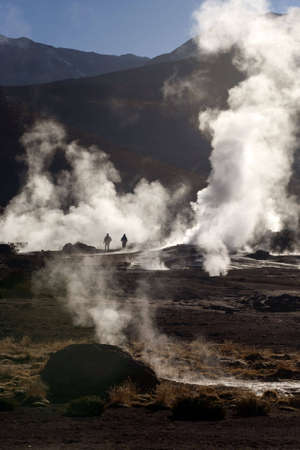 geysers: Geysers in the Andes, Chile Stock Photo