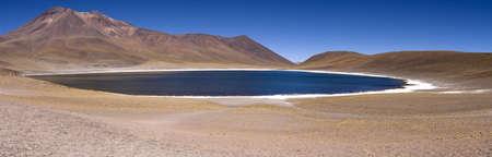 cordillera: Lagunas Miscanti and Meniques in Atacama desert near Andes